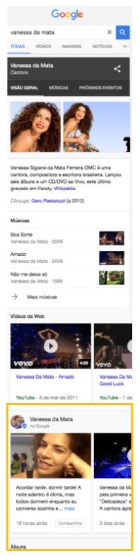 Vanessa da Mata Google Posts Celular
