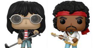 Jimi Hendrix e Joey Ramone em versão Funko