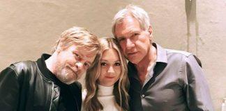 Luke Skywalker, Han Solo e filha da Princesa Leia