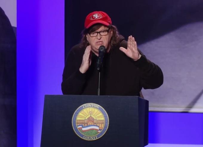Michael Moore (créditos: Divulgação/TrumpLand)
