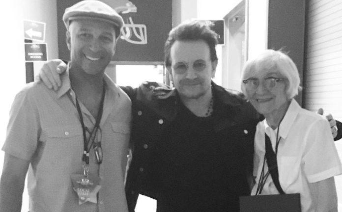 Tom Morello, Bono e Mary Morello