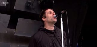 Liam Gallagher no Glastonbury