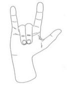 Desenho no processo de registro de Gene Simmons