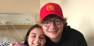 Ed Sheeran com fã em Curitiba