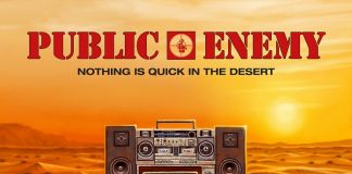 """capa do disco """"nothing is quick in the desert"""" do public enemy"""
