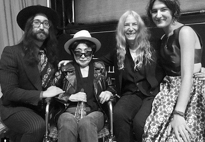 Sean Lennon e Yoko Ono