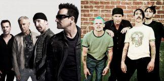 U2 e Red Hot Chili Peppers