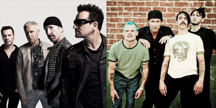U2 e Red Hot Chili Peppers