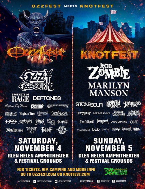 Ozzfest Meets Knotfest Lineup