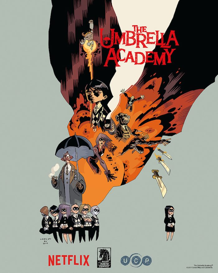The Umbrella Academy - pôster netflix 1