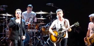 U2 e Noel Gallagher tocando juntos