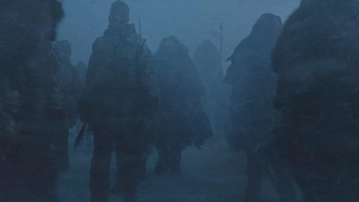 Brann Dailor (à esquerda) em Game of Thrones