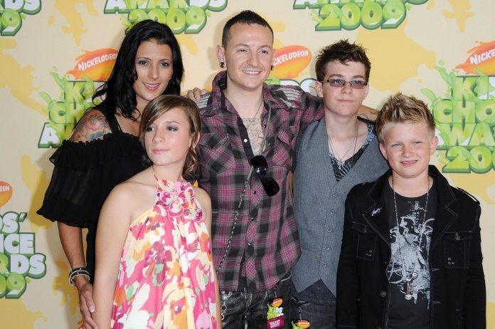 Chester Bennington e família em 2009