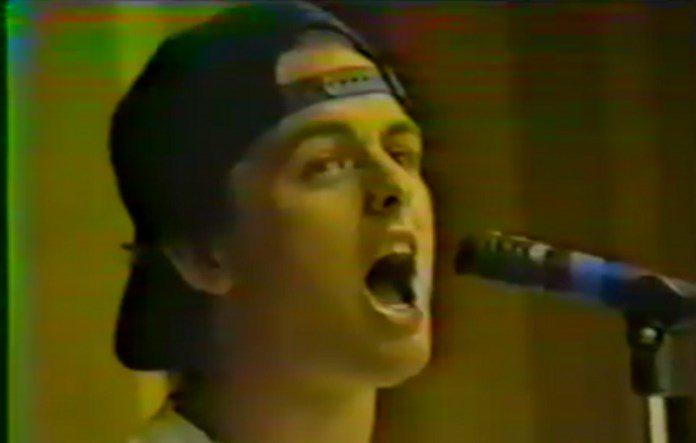 Billie Joe com o Green Day em início de carreira