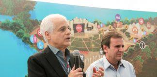 Roberto Medina e Eduardo Paes em 2015