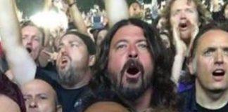 Dave Grohl no show do Metallica