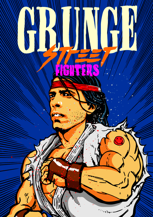 Dave Grohl como Ryu (Street Fighter)