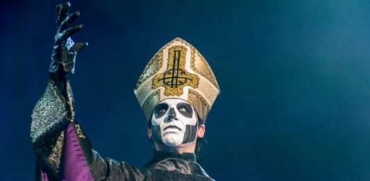 Papa Emeritus, do Ghost, em 2017