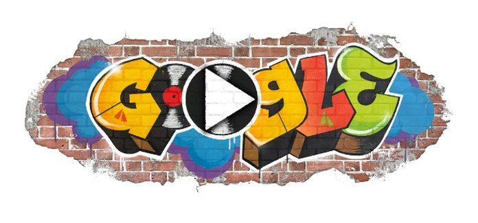 Doodle do hip hop no Google