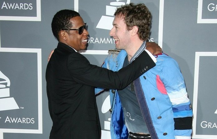 Jay-Z e Chris Martin no Grammy 2009