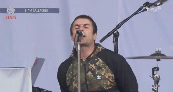 Liam Gallagher no Lolla Chicago