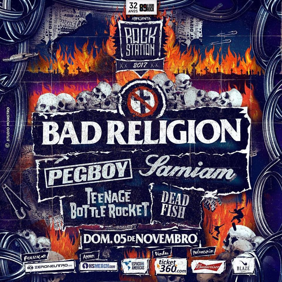 Rock Station 2017 com Bad Religion, Samiam e mais