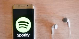 Spotify em smartphone