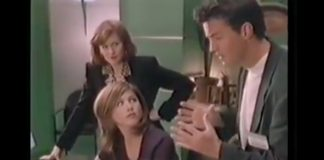 Matthew Perry e Jennifer Aniston em propaganda do Windows 95
