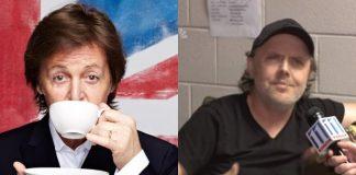 Paul McCartney e Lars Ulrich