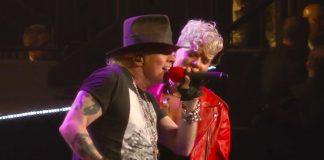 Guns N' Roses com Pink em NY