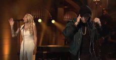 Eminem e Skylar Grey no SNL