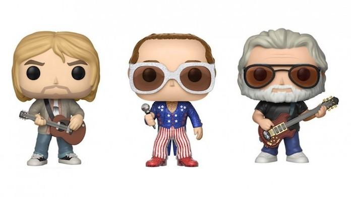 Kurt Cobain, Jerry Garcia e Elton John Funko Pop