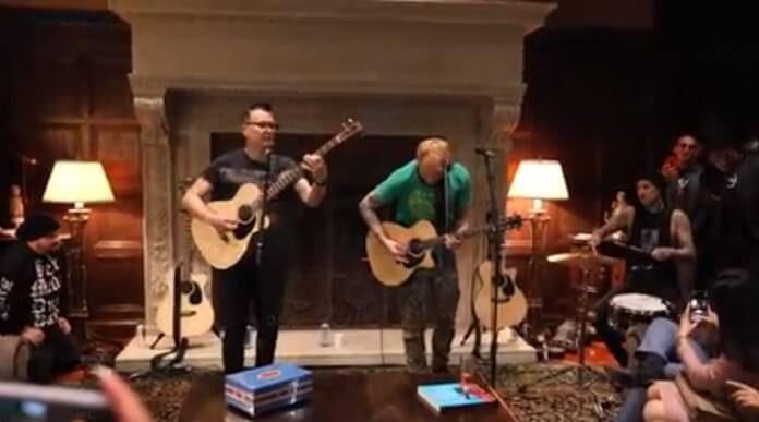 Blink-182 na festa de Steve Aoki
