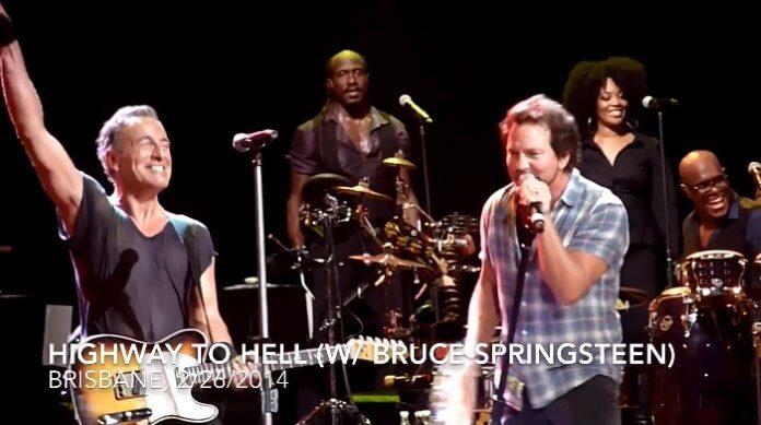 Eddie Vedder toca AC/DC com Bruce Springsteen