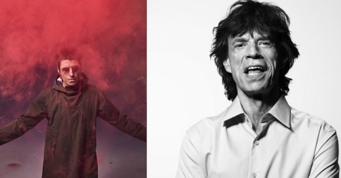 Liam Gallagher e Mick Jagger
