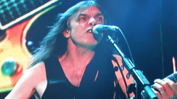 Malcolm Young no último show com o AC/DC