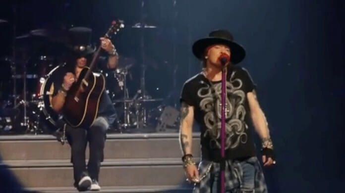Slash com o Guns N Roses