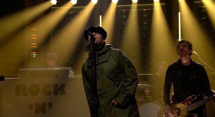 Liam Gallagher no programa de Jimmy Fallon