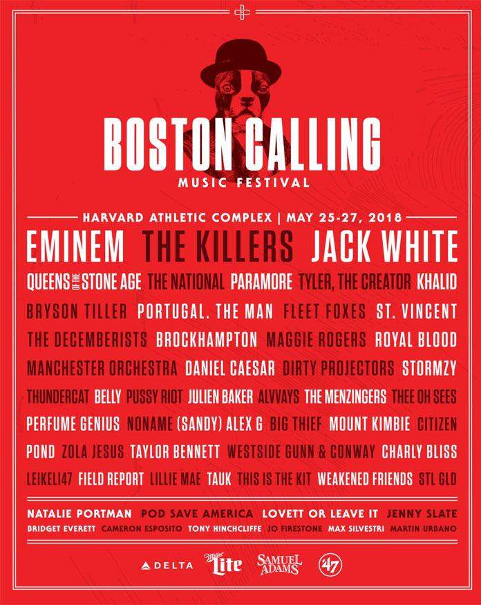 Boston Calling 2018 lineup completo