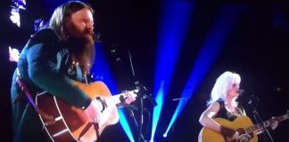 Chris Stapleton e Emmylou Harris no Grammy