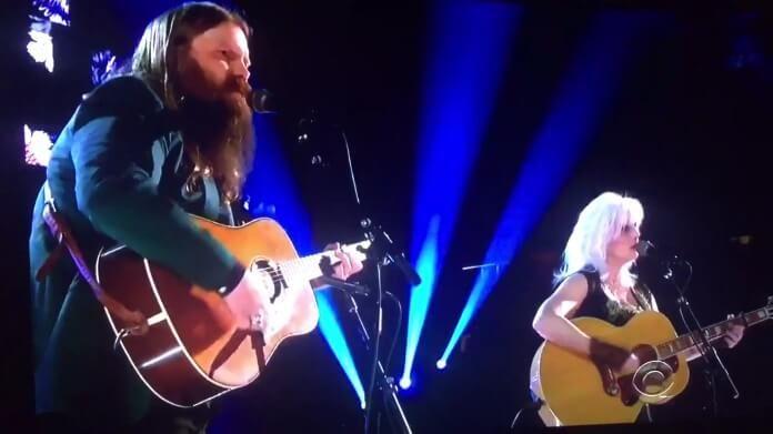 Chris Stapleton e Emmylou Harris no Grammy