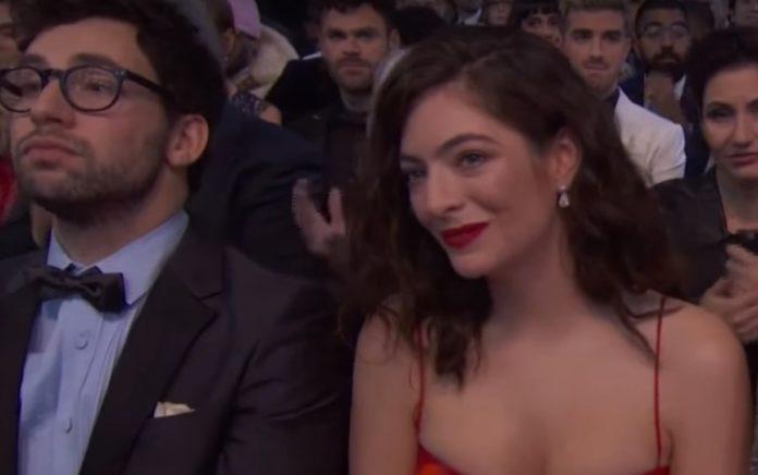 Lorde e Jack Antonoff no Grammy 2018