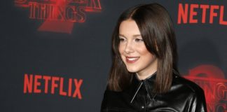 Millie Bobby Brown na estreia de Stranger Things 2
