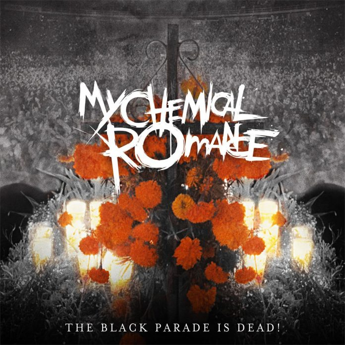 "Capa do álbum ""The Black Parade is Dead!"""