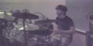 Dave Grohl na bateria, 1985