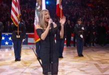 Fergie canta hino dos EUA na NBA