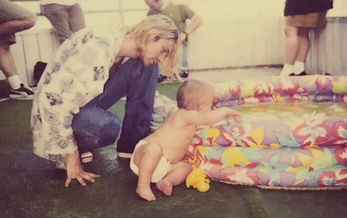 Kurt Cobain e Frances Bean