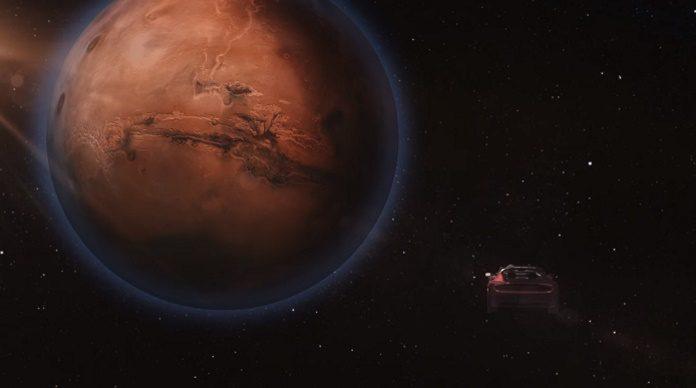 Carro da Tesla em Marte