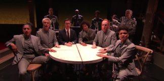 David Byrne e Stephen Colbert