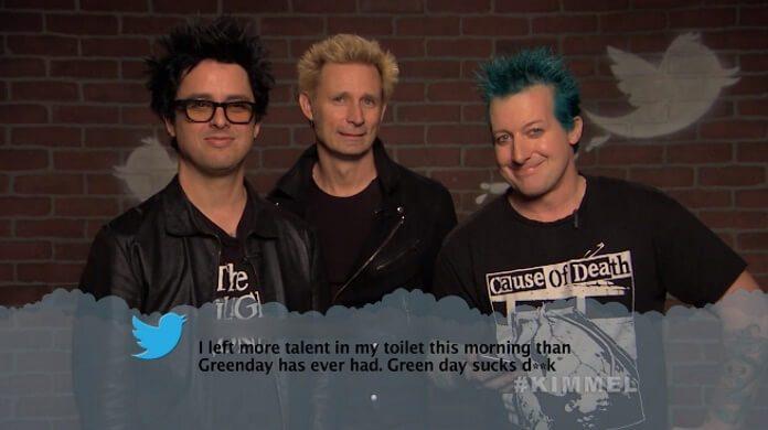 Green Day lê tweets maldosos